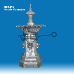 Gothic-Fountain-with-Scalloped-Bowl