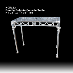 double-dolphin-console-table