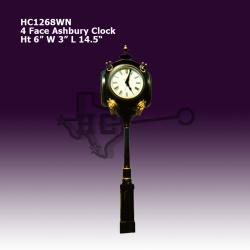 four-face-lion-clock