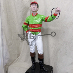 jockey-green-red-stripes