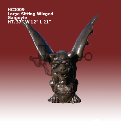large-sitting-winged-gargoyle