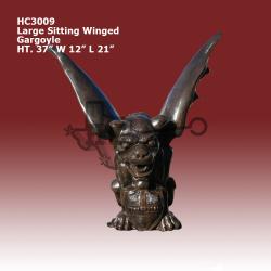 large-sitting-winged-gargoyle