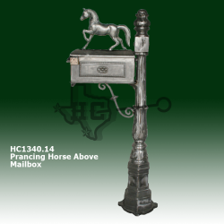 prancing-horse-above-mailbox